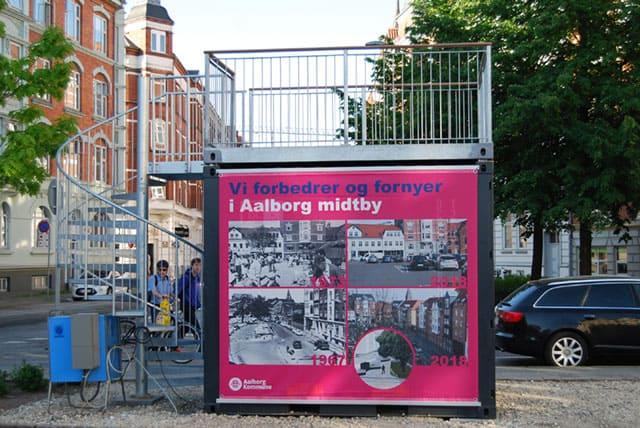 Infopoint container Aalborg Kommune