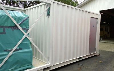 Dehumidifier system in container