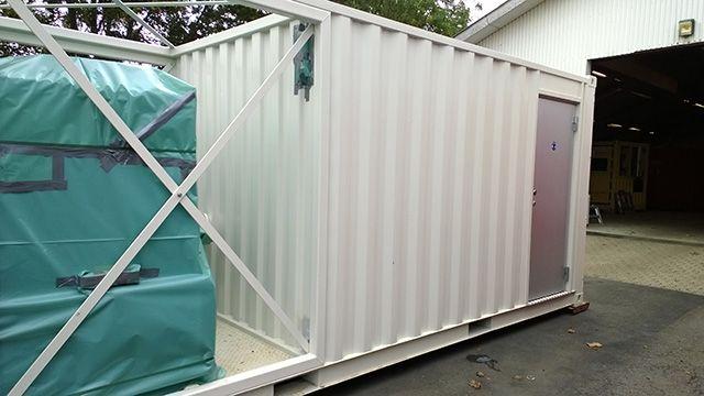 Affugter anlæg i container