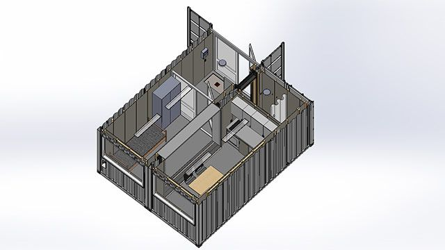 Containerboliger til studerende - indretning