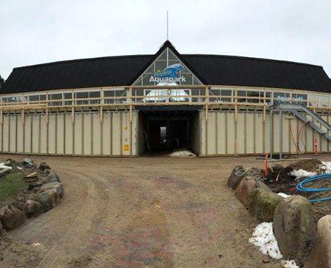 Fårup Aquapark omklædningsrum under opbygning