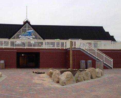 Fårup Aquapark omklædningsrum set udefra