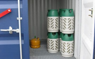 Flaskegas container