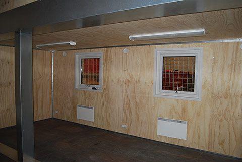 Container til flytbar produktion