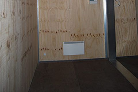 Container til flytbar produktion - gulv