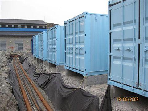Generator containere på række