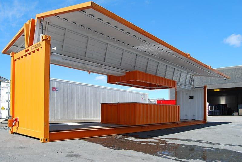 40 fods container med hydraulisk sideåbning