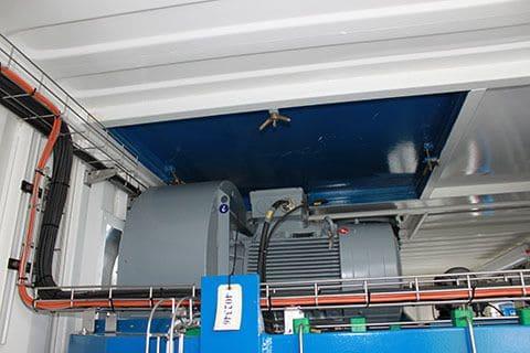 Incinerator container anlæg