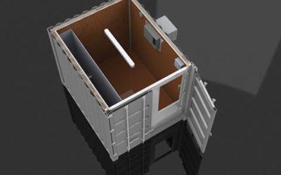Isoleret container til ekstra lager