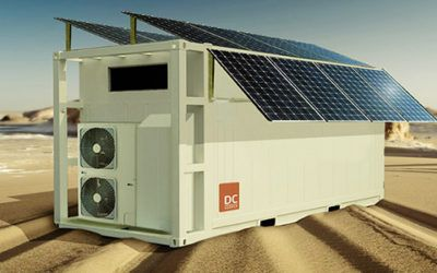 20ft Cooler Containers with Solar Panels and a Battery