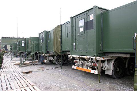 Kommunikationscenter - sammebyggede containere
