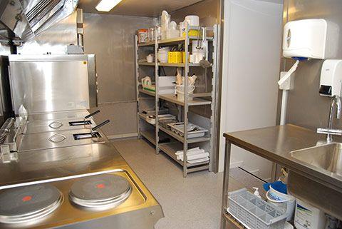 Midlertidig køkkentilbygning indretning