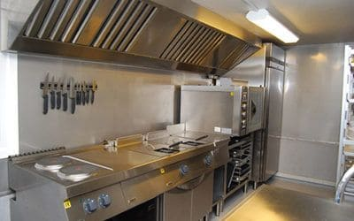 Midlertidig køkkentilbygning og mobile køkkener