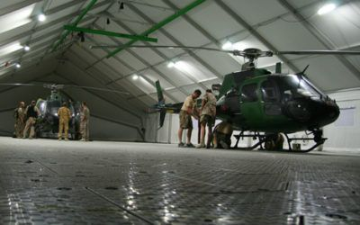 Mobile Hangar for Fennec Helicopters