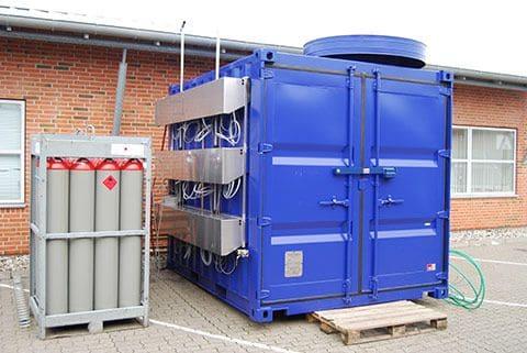 Mobil generatorforsyning set forfra