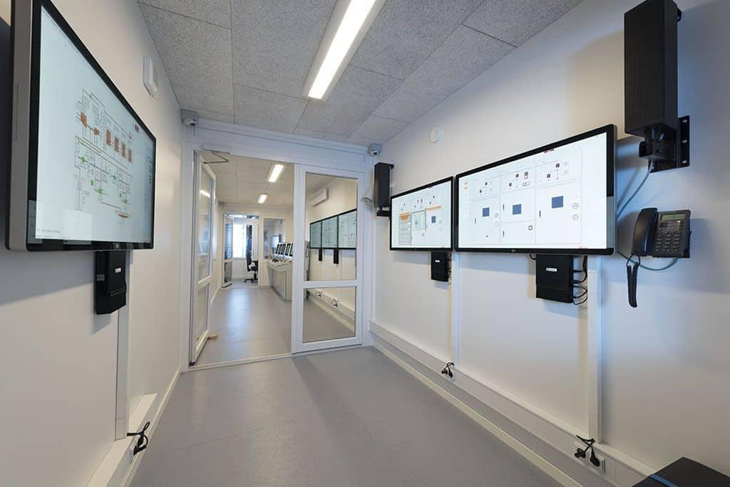 Mobil maskinrums simulator indretning