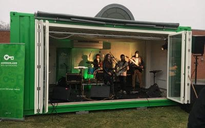 Mobile Stage in Repurposed Shipping Container