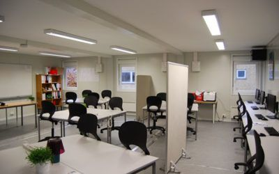 Modular classrooms in containers