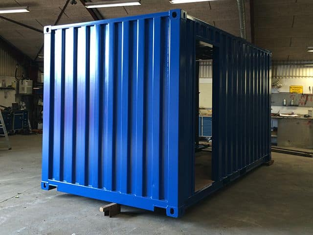 Nedkortet container