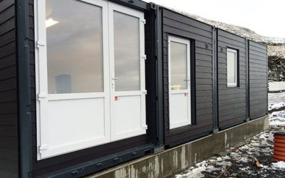 Changing Room Container with Cladding