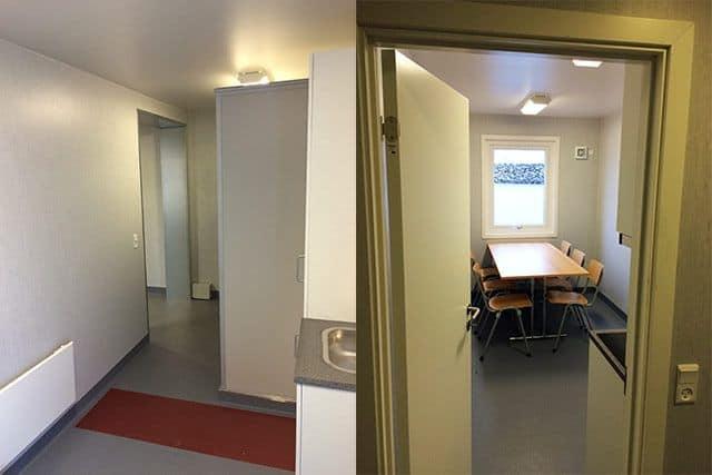 Omklædningscontainere med beklædning rum