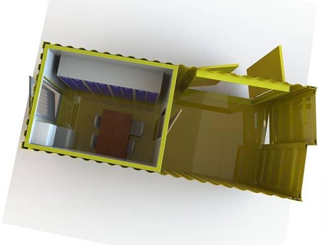 Opdelt service container set fra toppen