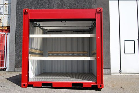 Reefer containere set forfra