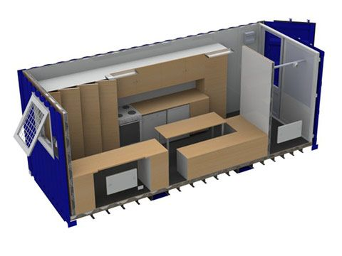 Service container 3D visualisering