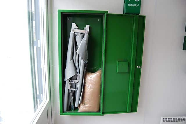 Sanitets- og sikkerhedscontainer udstyr
