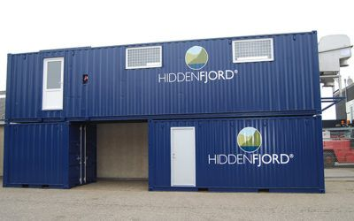Specialty container with an integrated salmon processing plant for the Faroe Islands