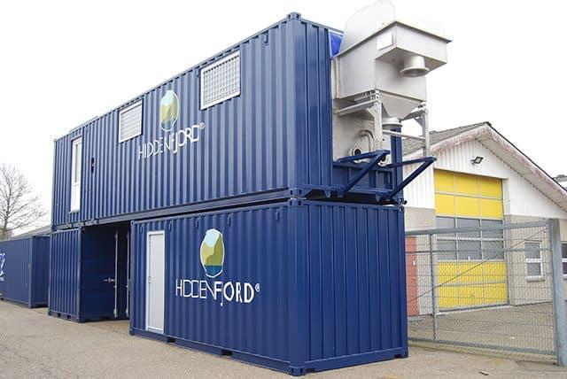 Specialcontainer til lakseslagteri HiddenFjord anlæg