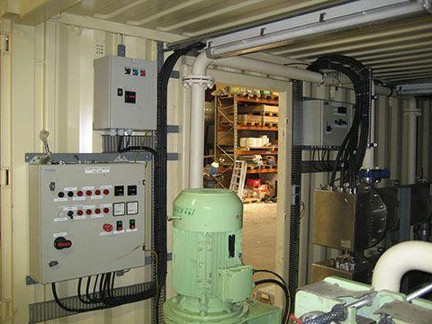 Teknik container med CSC-godkendelse indretning
