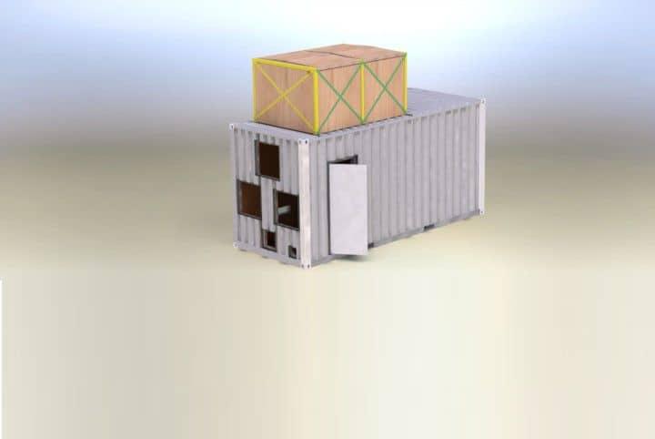 Test container til rensning af ballastvand 3d