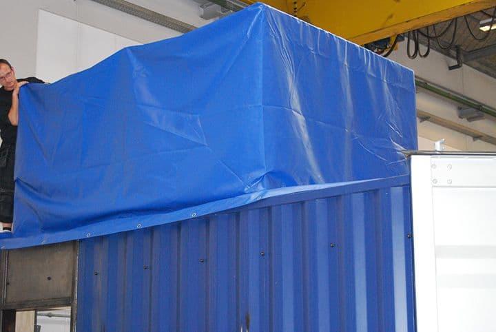 Test container til rensning af ballastvand detalje