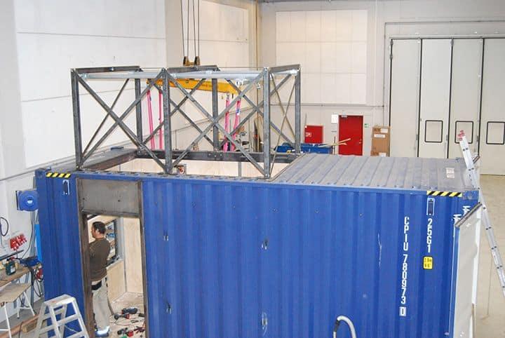 Test container til rensning af ballastvand