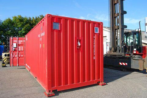 Tørrecontainer til forsvaret