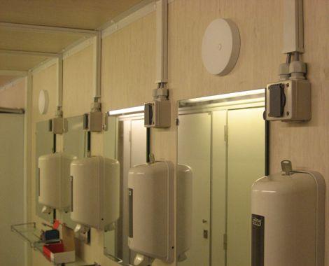 Toilet container militært brug
