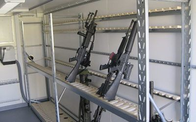 Dry weapons storage container
