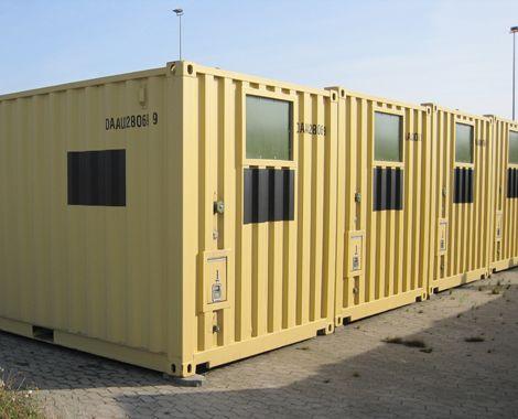 Våbenopbevarings container set udefra