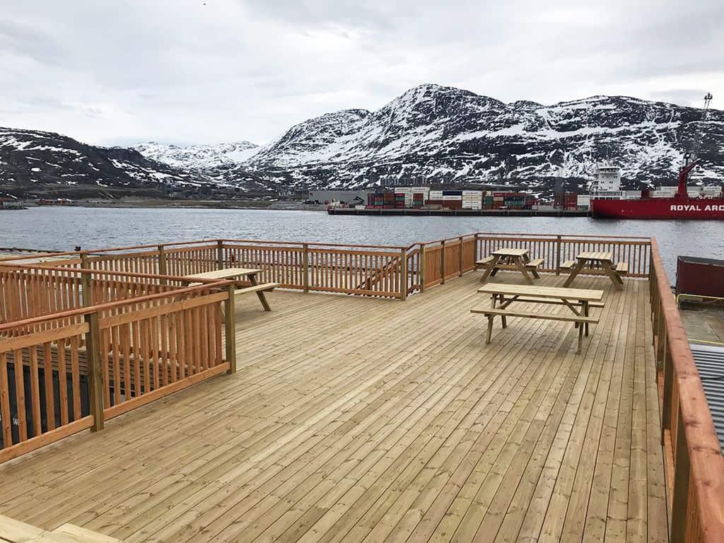 Velkomstområde Sikuki Nuuk Havn terrasse