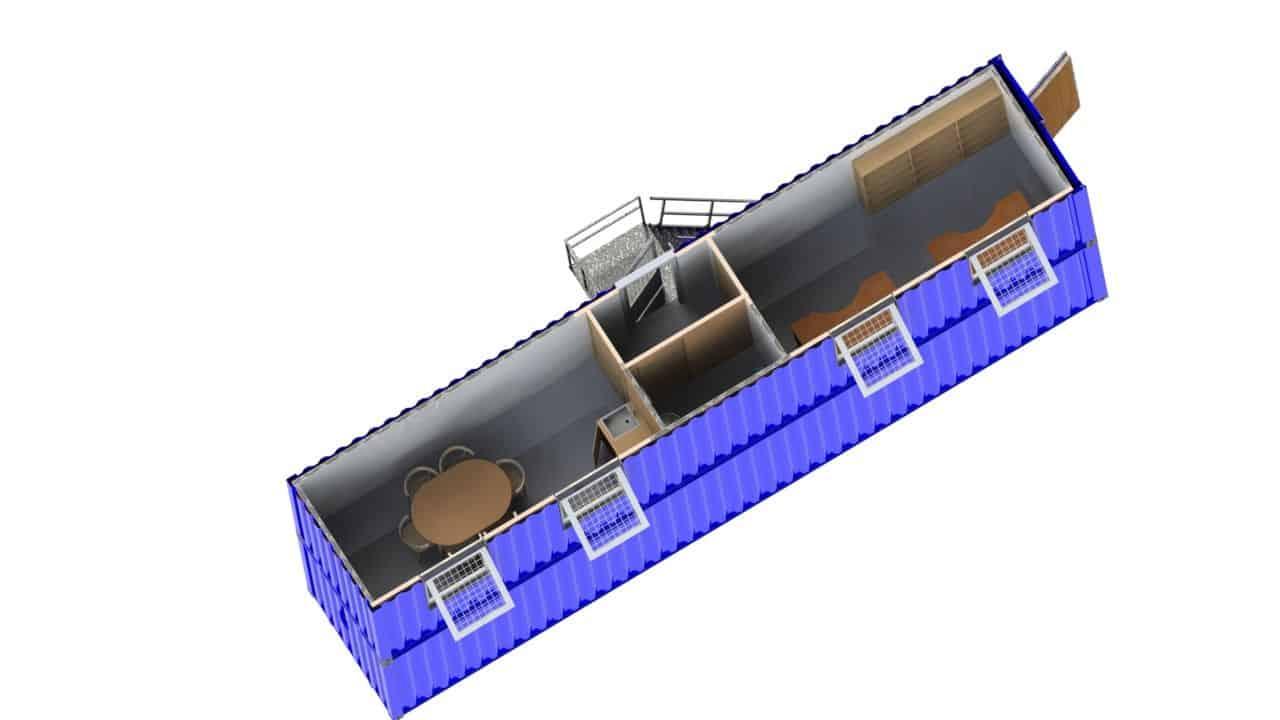Vindmølle testsite station fra toppen
