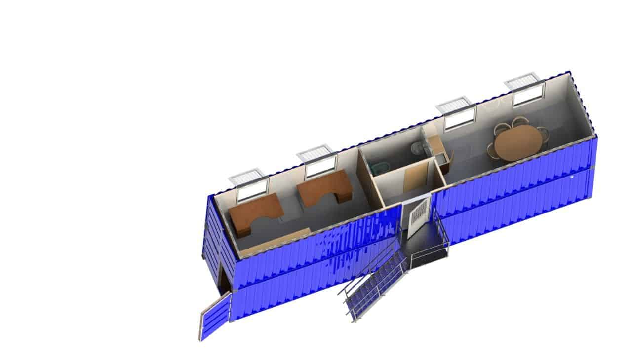 Vindmølle testsite station trappe på siden