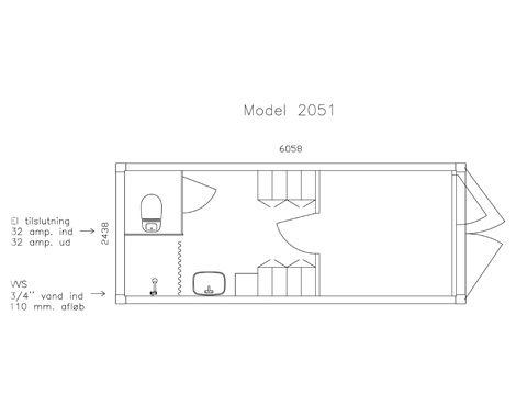 Containerskurvogn 4 personer plan