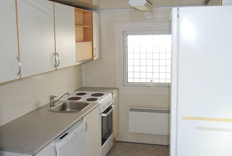 SHOWER AND KITCHEN CONTAINER, 2082 - Reasonable condition, missing door on one side