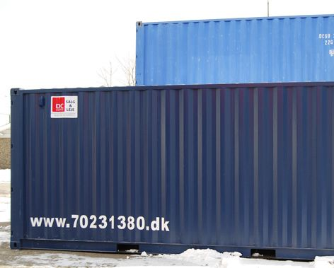 20 og 40 fods containere