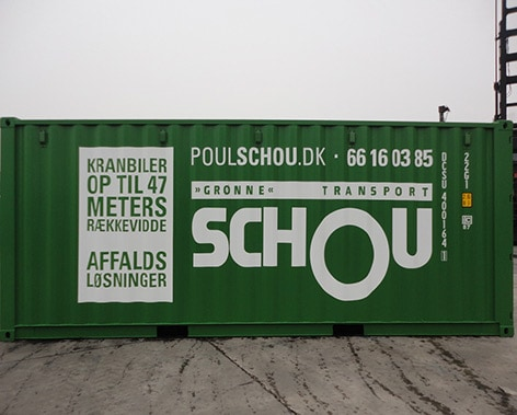 Container med logo