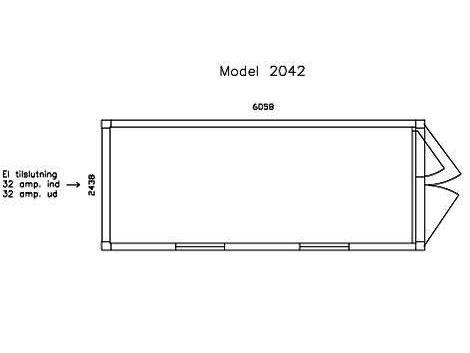 Kontorskurvogn med 2 vinduer - DCS 2042