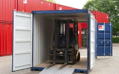 Dobbeltdørscontainer 20 fods