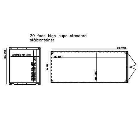 High Cube plantegning