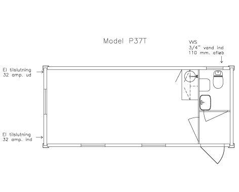 Kontorskurvogn P-37T plan